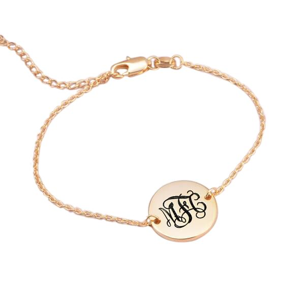 "Personalized Oval Name Bracelet Length 6""7.5"""