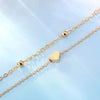 925 Sterling Silver  Double Layer Heart Anklet Set - onlyone