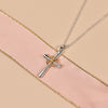 925 Sterling Silver Cross pendant Necklace With Lotus Cross Necklace For Women - onlyone