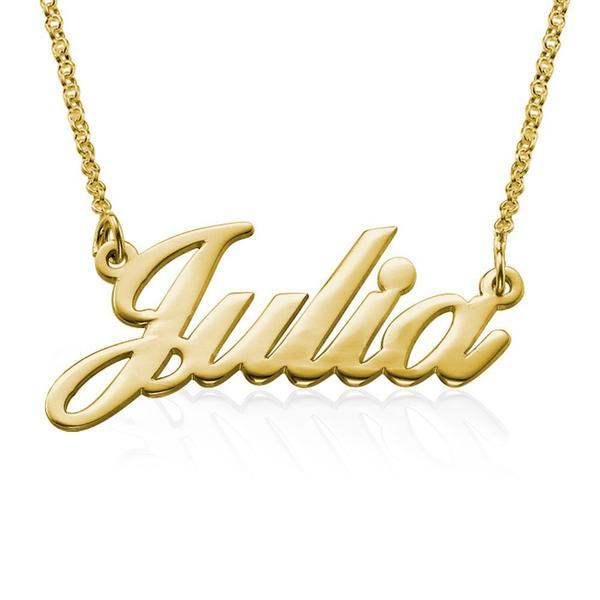 Julia Custom Name Necklace-Classic Name Necklaces-YAFEINI-Gold Plated-yafeini-personalized-custom-jewelry