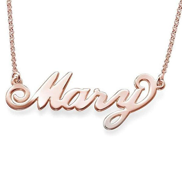 "925 Sterling Silver ""Mary"" Style Custom Name Necklace Nameplate Necklace - onlyone"