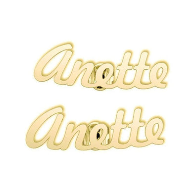 10K/14K Gold Personalized Initial Name Earring