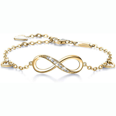 925 Sterling Silver Infinity Adjustable Anklet Bracelet, Gift For Her