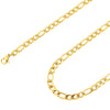 925 Sterling Silver Women's 3.7mm Figaro Link Chain Necklace, 18K Gold Plated