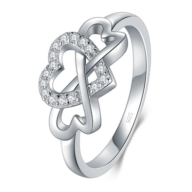 OnlyOne 925 Silver Cupid Love Ring Zirconia Ring - onlyone