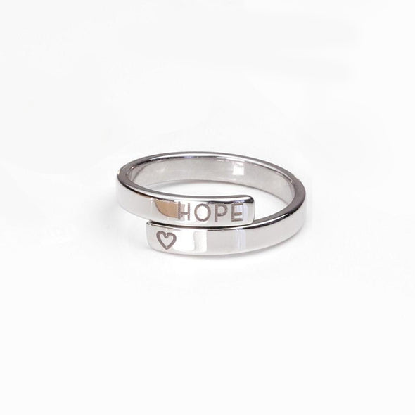 925 Sterling Silve Personalized Dainty Initial Spiral Wrap Name Ring