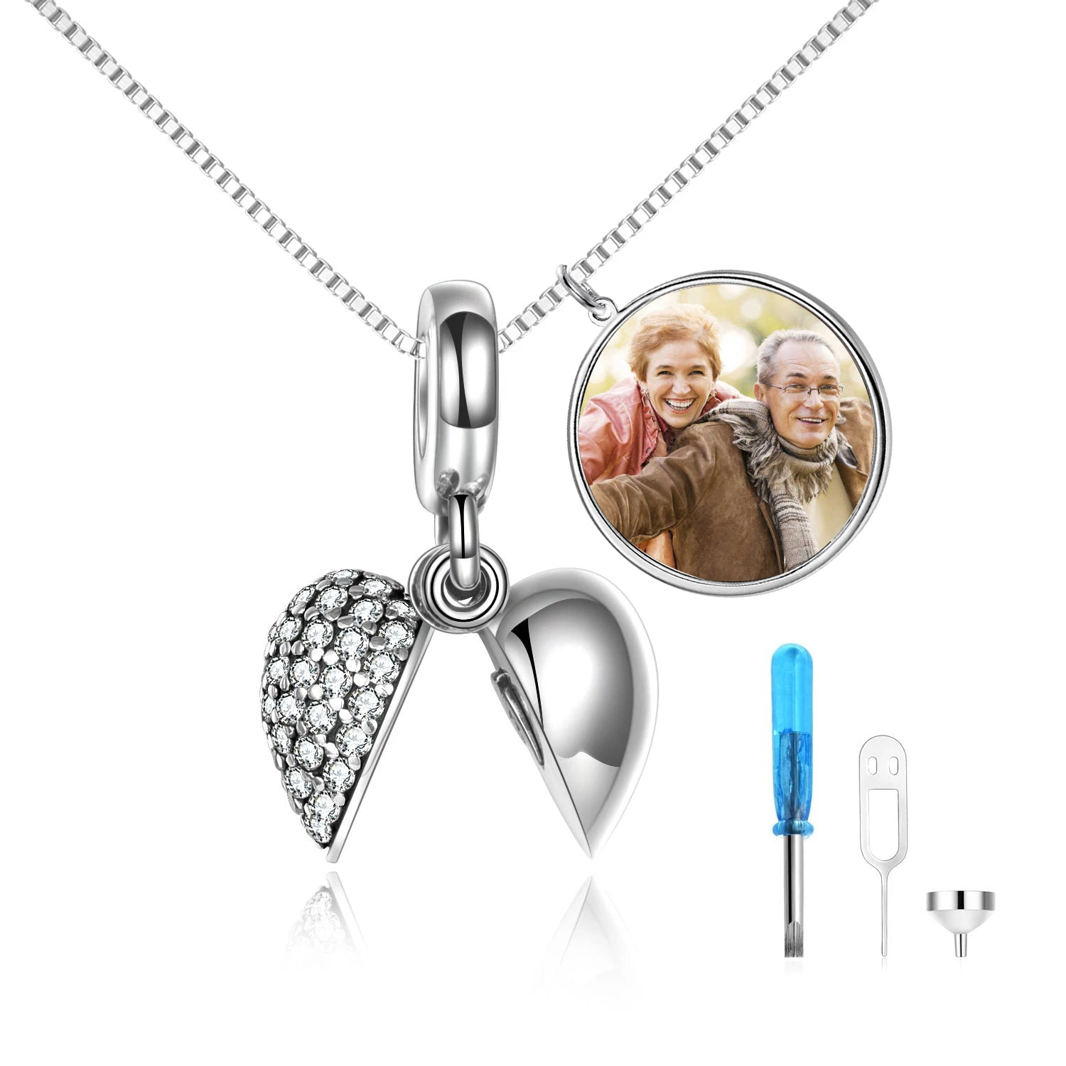 925 Sterling Silver Heart Belongs To You Urn Necklace Cremation Jewelry for Ashes