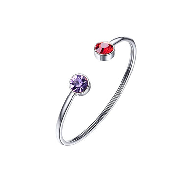 925 Sterling Silver Open Birthstone Ring
