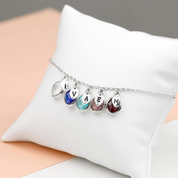 925 Sterling Silver Personalized Birthstone Necklace