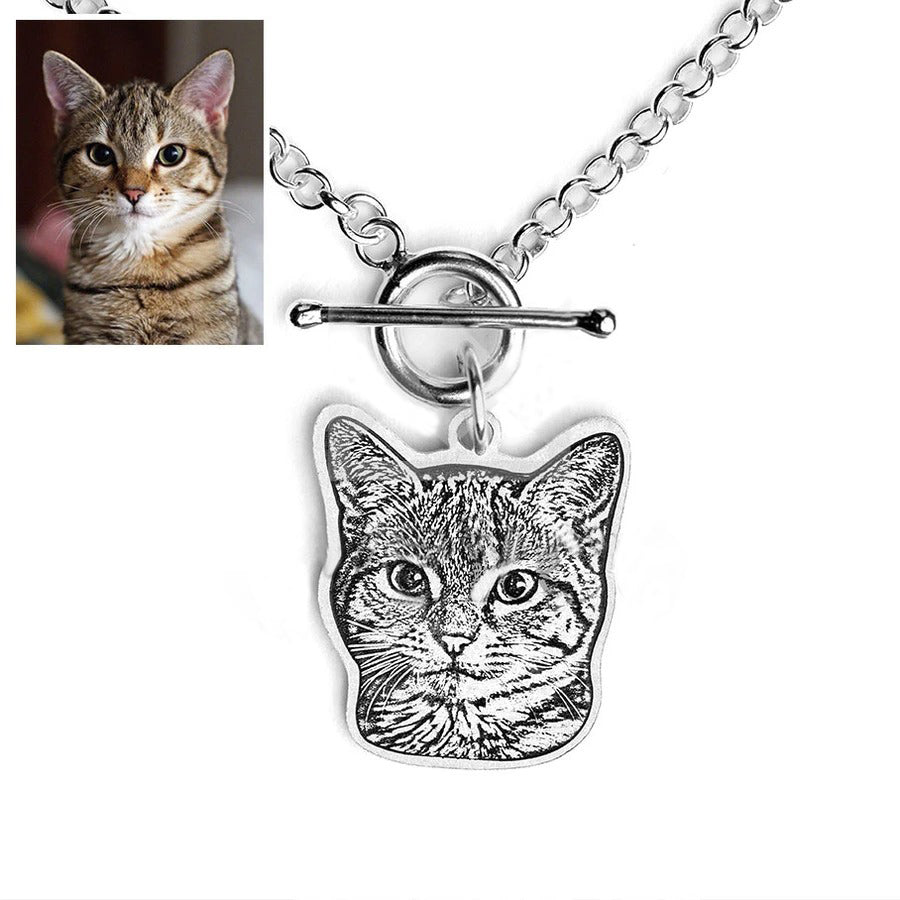 925 Sterling Silver Pet Portrait Anchor Link Bracelet