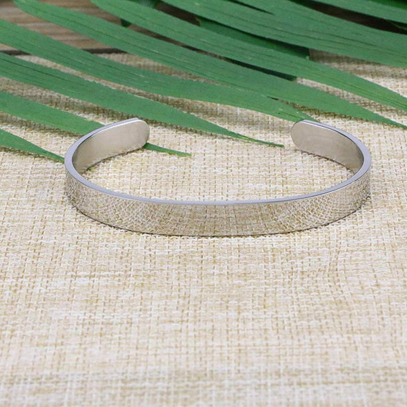 925 Sterling Silver Inspirational Bracelet Mantra Quote Engraved Cuff Bangle Hidden Message Engraved - onlyone