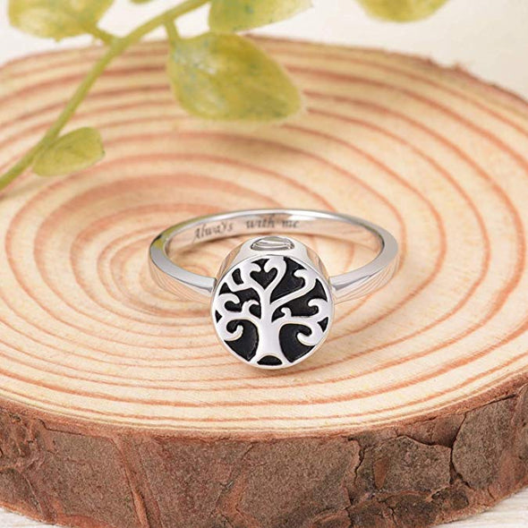 925 Sterling Silver Tree of Life Urn Ring For Ashes Cremation Jewelry for Ashes - onlyone