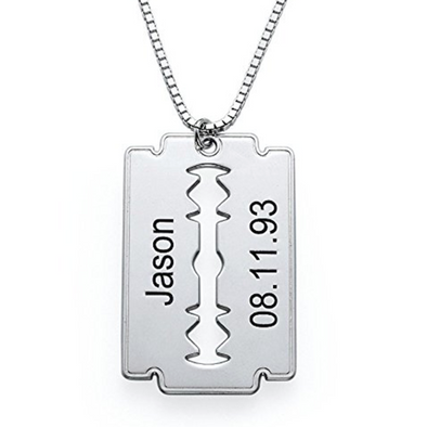 925 Sterling Silver Square Hollow Engraved Necklace - onlyone