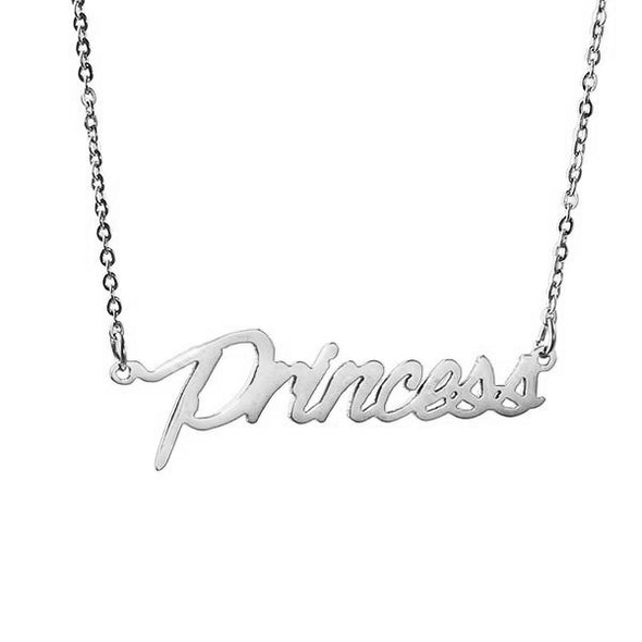 925 Sterling Silver Tiny Charm Name Necklace Nameplate Necklace - onlyone