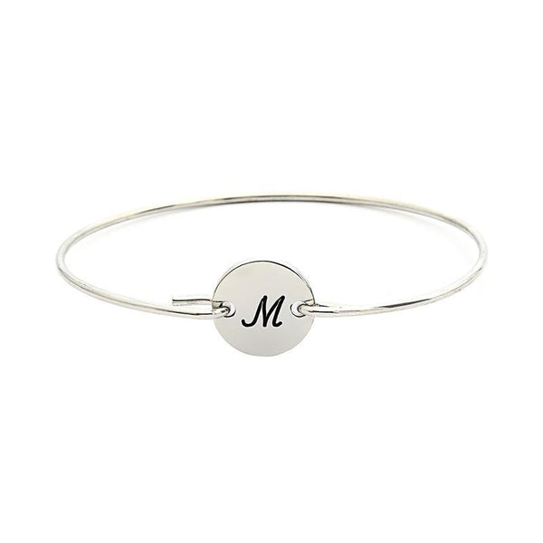 Personalized Single Initital Bangle From A To Z-Personalized Bangles-YAFEINI-yafeini-personalized-custom-jewelry