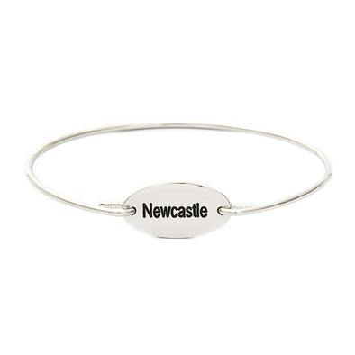 925 Sterling Silver Personalized City Name Bangle - onlyone