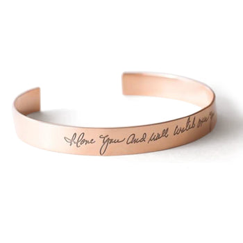 "Personalized Handwriting Cuff 6""-7.5"""