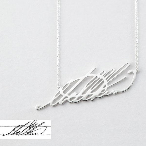 925 Sterling Silver Signature Name Necklace Nameplate Necklace - onlyone