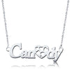 925 Sterling Silver Sweet Love Heart Name Necklace Nameplate Necklace - onlyone