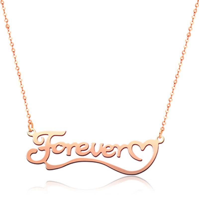 925 Sterling Silver Love You Forever Classic Name Necklace Nameplate Necklace - onlyone