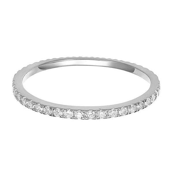 925 Sterling Silver Cubic Zirconia Simulated Diamond Stackable Ring Eternity Bands for Women - onlyone