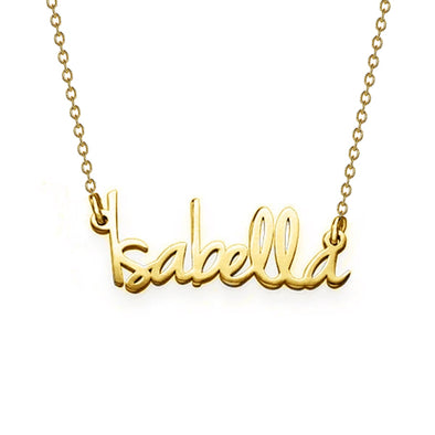 "925 Sterling Silver ""Isabella"" Style Custom Name Necklace Nameplate Necklace"