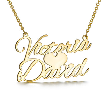 Sweet Love Name Necklace-Classic Name Necklaces-YAFEINI-Gold Plated-yafeini-personalized-custom-jewelry