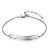 "925 Sterling Silver Personalized Loving You Bar Engraved Bracelet 6""-7.5"" - onlyone"