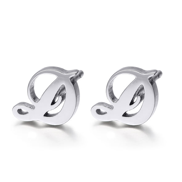 925 Sterling Silver Personalized Initials Stud Earring - onlyone