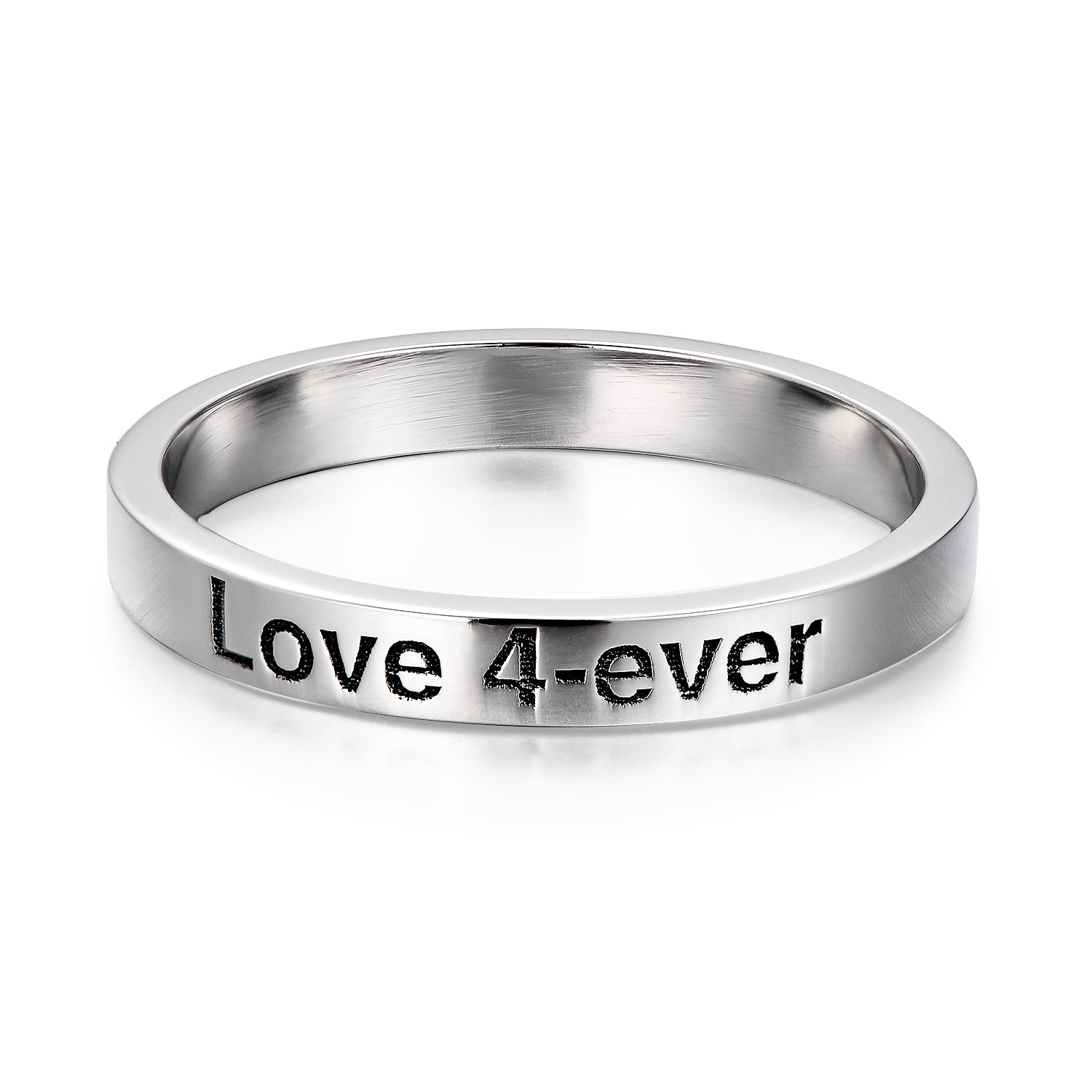 925 Sterling Silver Personalized Engraved Ring, Engraved Band - onlyone