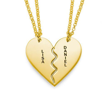 Breakable Engraved Heart Name Necklace-Engraved Necklaces-YAFEINI-Gold Plated-yafeini-personalized-custom-jewelry