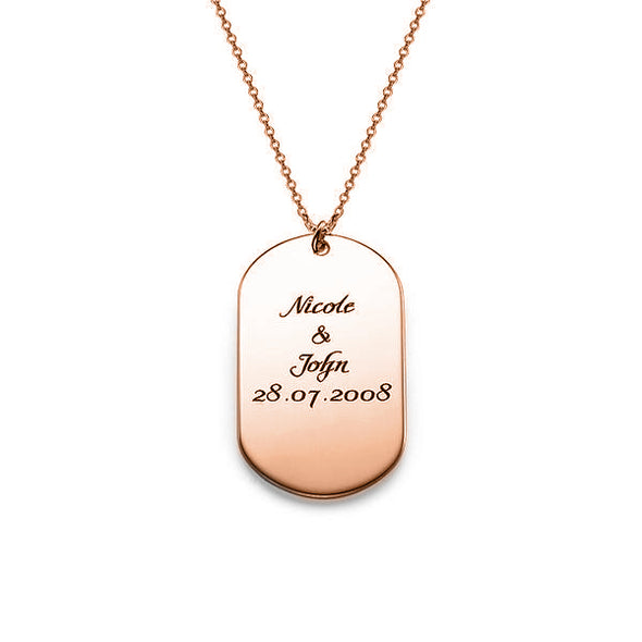 925 Sterling Silver Engraved Bar Custom Name Necklace Inspirational Gift Inspirational Gift Dog Tag Necklace - onlyone