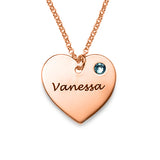 925 Sterling Silver Heart Engraved Name Necklace -Yafeini® Design