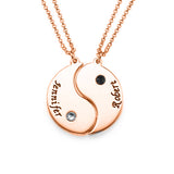 Birthstone Engraved Coin Name Necklace