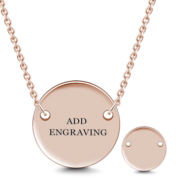 925 Sterling Silver Custom Text Engraved Hang Tag Coin Necklace Inspirational Gift, Back To School Gift Necklace - onlyone