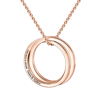 Engraved Double Loop Name Necklace-Engraved Necklaces-YAFEINI-yafeini-personalized-custom-jewelry