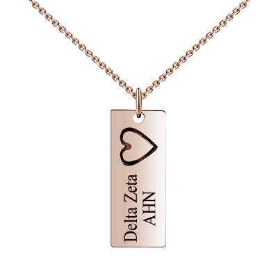 925 Sterling Silver Engraved Vertical Bar Name Necklace Nameplate Necklace - onlyone