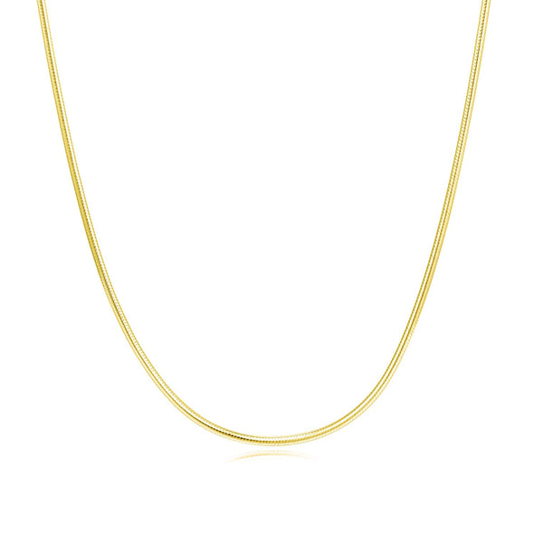 925 sterling silver solid color gold-plated necklace - onlyone