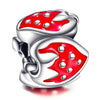 925 Strawberry Sterling Silver Charm For Bracelet and Necklace - onlyone