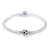 925 Sterling Silver Football Soccer Charm For Bracelet and Necklace - onlyone