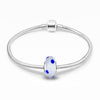 925 Sterling Silver  Glass Charm for Bracelet and Necklace - onlyone