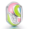 925 Sterling Silver- Craft Colorful Charm for Bracelet and Necklace - onlyone