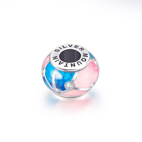 925 Sterling Silver Colorful Charm for Bracelet and Necklace - onlyone