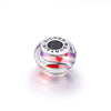 925 Sterling Silver Painting Craft Colorful Charm for Bracelet and Necklace - onlyone