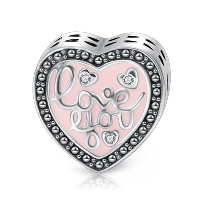 925 Sterling Silver Heart Charm Fit for Bracelet and Necklace - onlyone