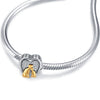 925 Sterling Silver Two Cat Charm Fit for Bracelet and Necklace - onlyone