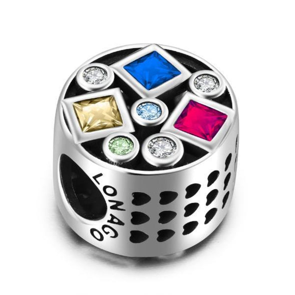 Sterling Silver Colorful Charm Fit for Bracelet and Necklace - onlyone