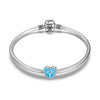 925 Sterling Silver Life Tree Blue Heart Charm for Bracelet and Necklace - onlyone