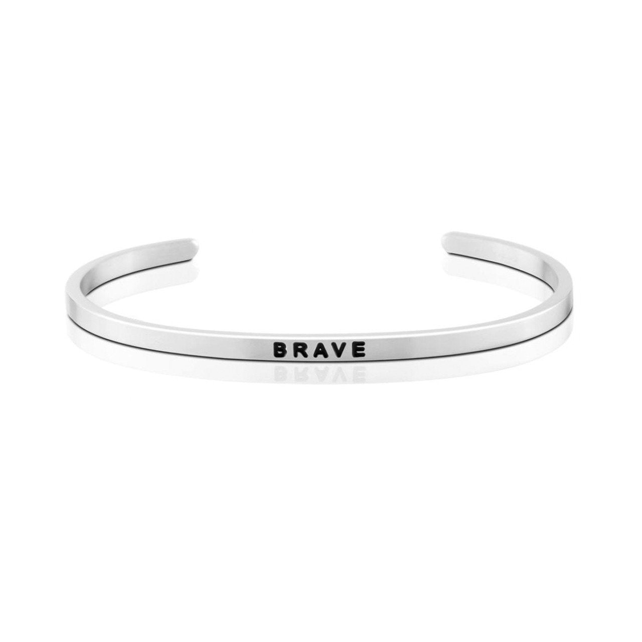925 Sterling Silver Personalized Strength Series Engraved Bangle - onlyone