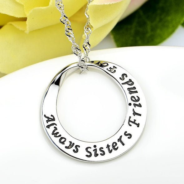 925 Sterling Silver Sisters Friendship Forever Pendant - onlyone